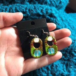 Wrapped Bottle Top Earrings Up-cycled